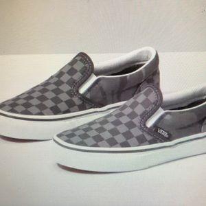 Kids tonal checkerboard slip-on